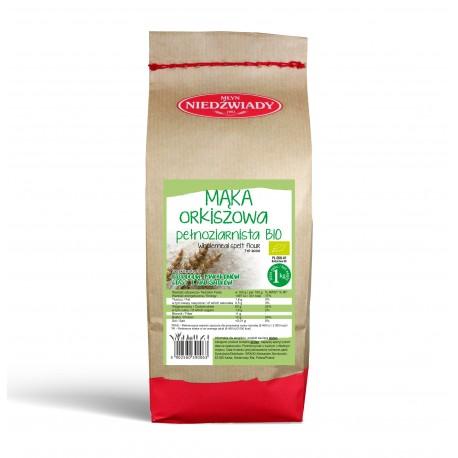 Mąka orkiszowa pełnoziarnista ekologiczna